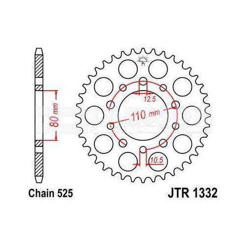 Zębatka tylna stalowa JT 1332-41, 41Z, rozmiar 525 2300636 Triumph Bonneville 800