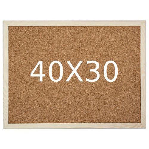 Tablica korkowa w ramie drewnianej 30x40 marki Amex
