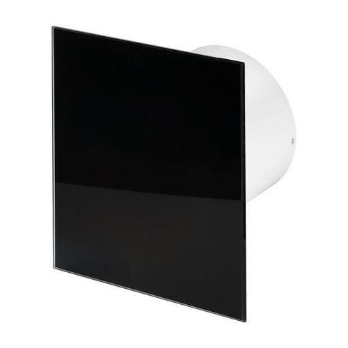 Cichy wentylator łazienkowy Silent + Wymienne Panele Czołowe Różne Funkcje: Higro,Timer Model: Timer + Higrostat, Średnica: 125 mm, Panel frontowy: Czarne szkło