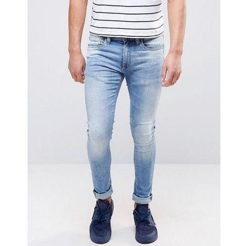 Jack and Jones Regular Jeans in Light Blue Wash Denim - Blue