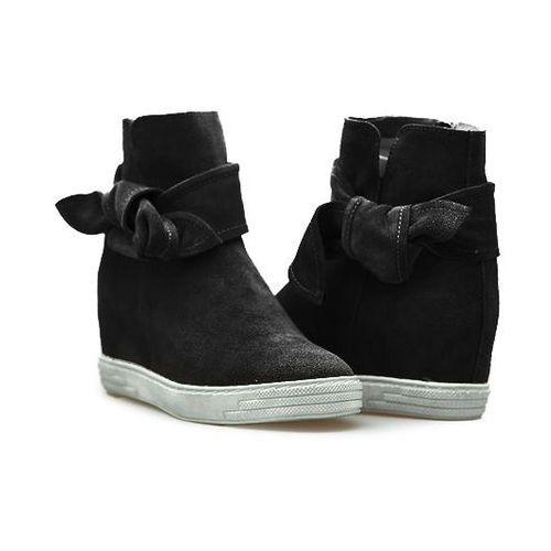 Sneakersy Karino 2090/003-P Czarne zamsz, kolor czarny