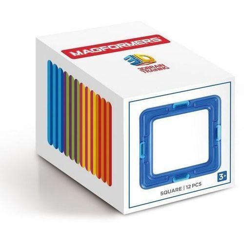 Magformers Klocki magnetyczne kwadraty 12 elementów