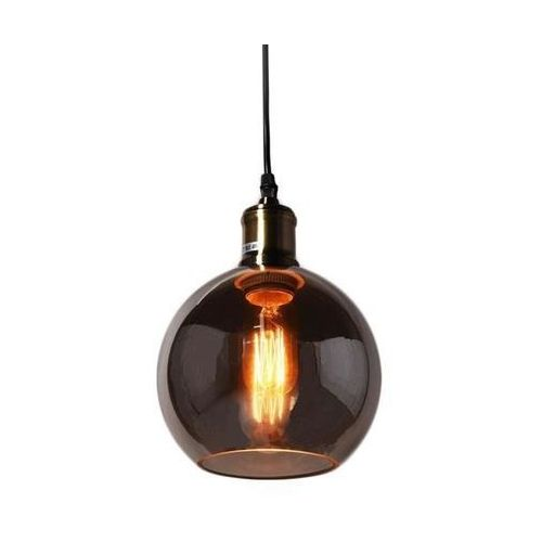Nowoczesna lampa wisząca loft przydymione szkło zagallo w1 marki Lumina deco