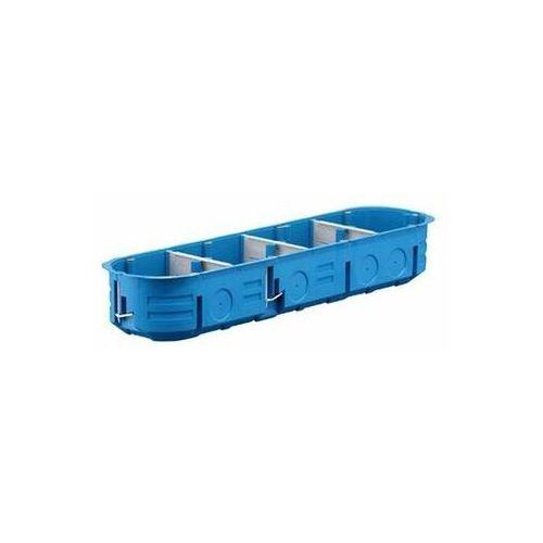 Przedsiębiorstwo simet s.a. Puszka podtynkowa poczwórna 60mm regips niebieska p4x60k 32326203