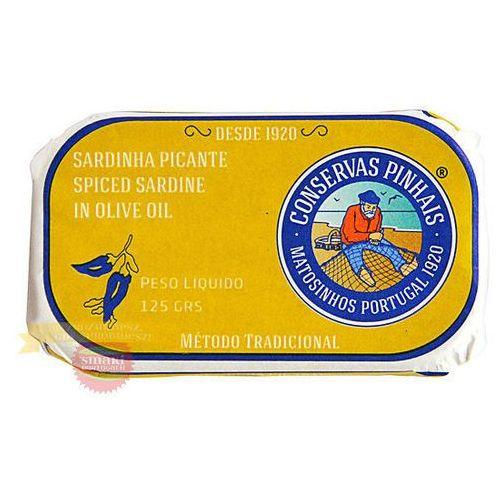 Portugalskie sardynki pikantne w oliwie z oliwek 125g marki Pinhais