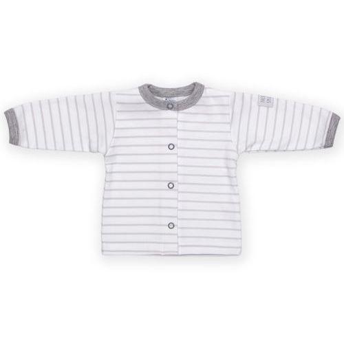 Kaftanik z kolekcji happy kids biały w szare paski marki Pinokio