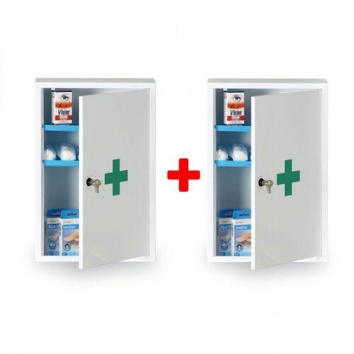 B2b partner Apteczka pierwszej pomocy z metalu 30 x 46 x 14 cm, 1+1 gratis