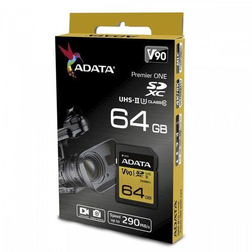 Adata SD Premier ONE 64GB UHS 2/U3/CL10 290/260MB/s, 1_622438