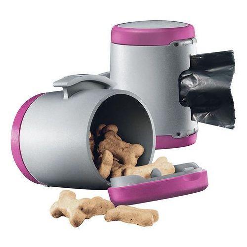 vario multi box - pojemnik na karmę i woreczki kolor: różowy marki Flexi