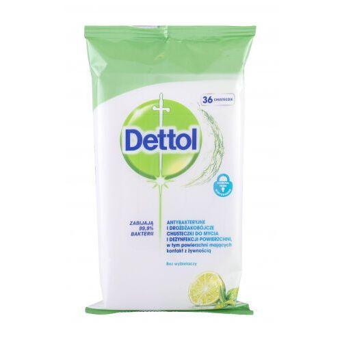 Dettol Antibacterial Cleansing Surface Wipes Lime & Mint antybakteryjne kosmetyki 36 szt unisex (5900627074338)
