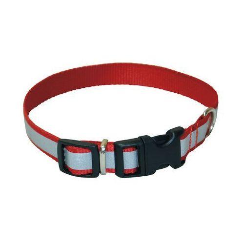 obroża odblaskowa nr 20+ dla psa czerwona z szerokim odblaskiem marki Chaba