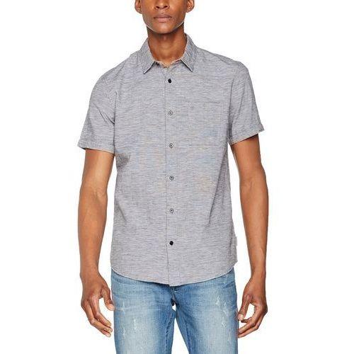 Calvin klein dżinsy koszula męska czas wolny wilks co/li koszulka s/s. dzięki temu mac pro nigdy nie każe, kolor: czarny, rozmiar: medium marki Calvin klein jeans
