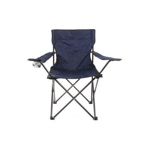 Krzesło campingowe składane Krzesełko wędkarskie niebieskie, kolor niebieski