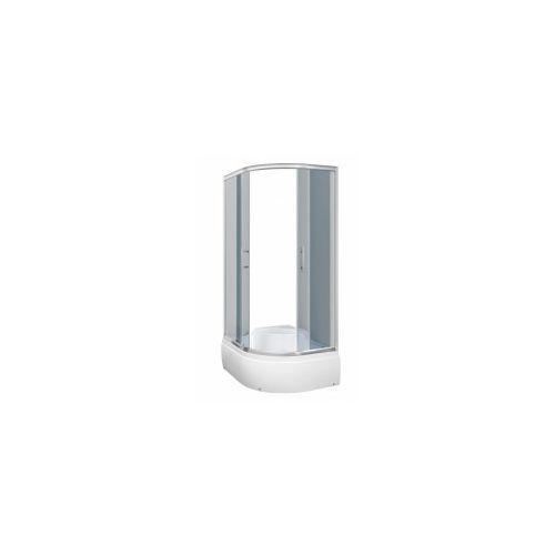KERRA AZALIA Kabina prysznicowa 120x80 LEWA + brodzik, profile chrom, szkło grafitowe
