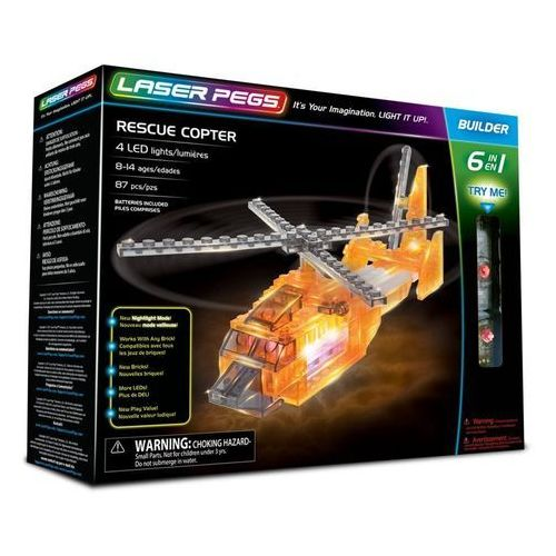6 in 1 Rescue Copeter - Laser Pegs