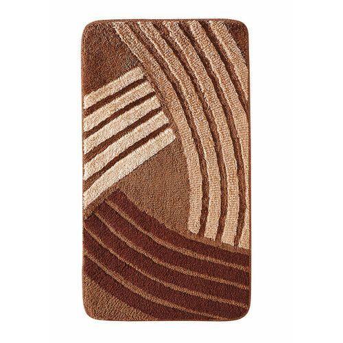 Dywaniki łazienkowe w graficzny wzór brązowy marki Bonprix