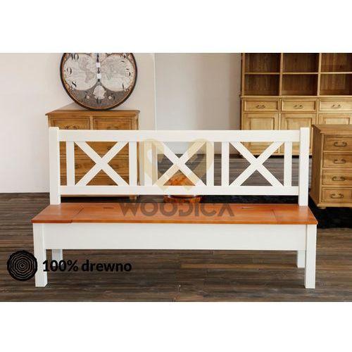 Woodica Ławka hacienda 05 [x + schowek] 147x98x56