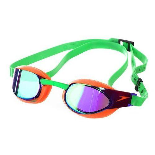 Okulary fastskin elite mirror pomarańczowo-fioletowo-zielone marki Speedo