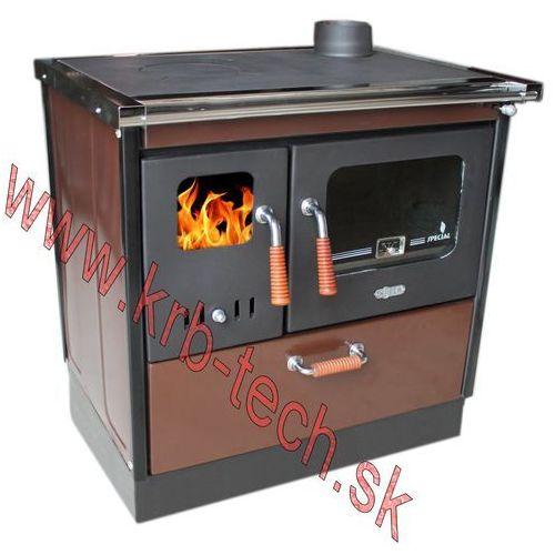 Koper Piec kuchenny na drewno antigona 85 s ciemny brązowy prawy boczny / górny (5319990395160)