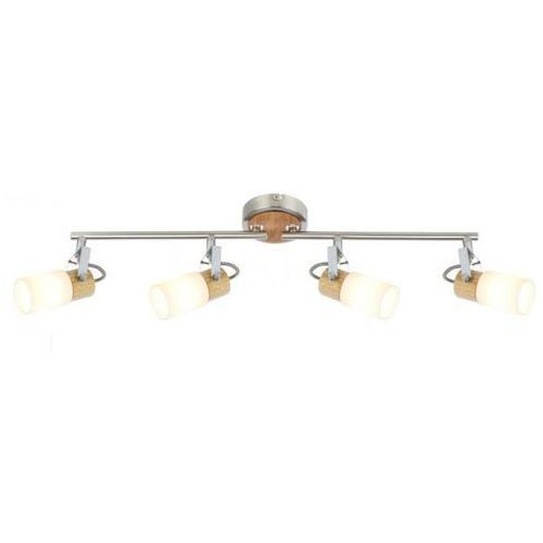 Globo Lampa sufitowa LED Nikiel matowy, 4-punktowe - - Obszar wewnętrzny - LORI - Czas dostawy: od 6-10 dni roboczych, 56606-4