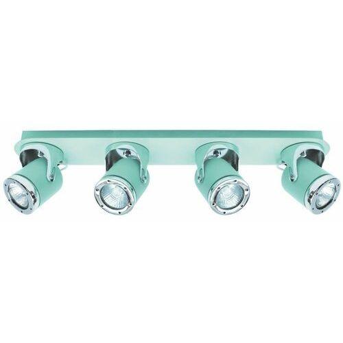 Regulowana LAMPA sufitowa APRIL 5036 Rabalux metalowa OPRAWA reflektorki miętowe chrom (5998250350363)