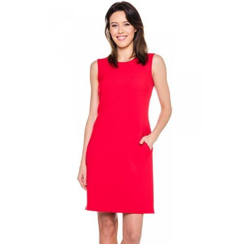 Klasyczna sukienka z kieszeniami - Bialcon, 1 rozmiar