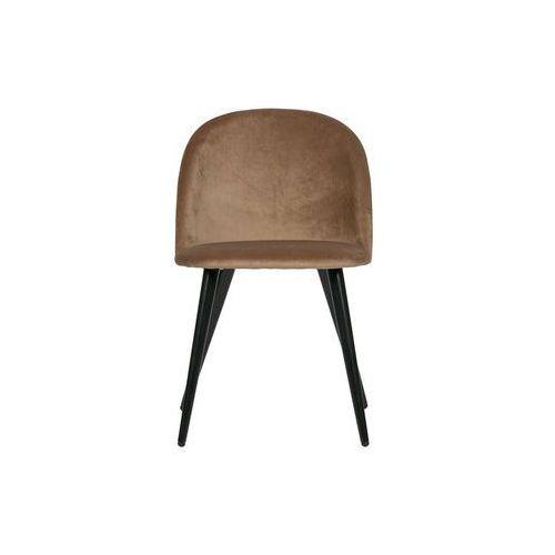 Woood Zestaw 2 krzeseł FAY velvet jasnobrązowe 373723-B (8714713085057)