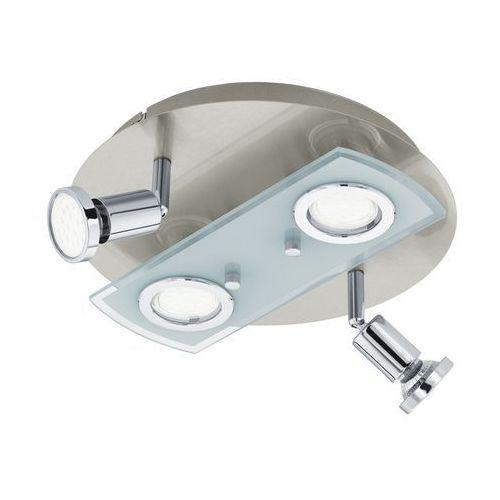 Eglo Plafon pawedo 1 32001 lampa oprawa sufitowa 4x3w gu10-led nikiel mat /chrom / biały (9002759320010)