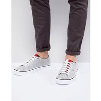 Tommy hilfiger lightweight knit plimsolls in grey - grey