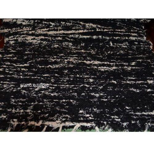 Twórczyni ludowa Chodnik bawełniany, ręcznie tkany, czarno-ecru 65x200