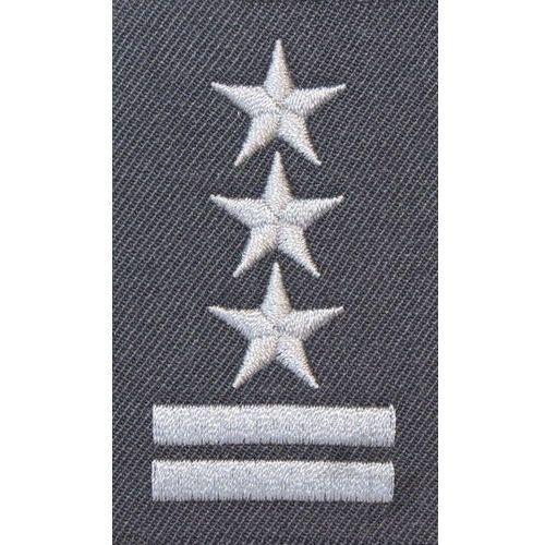 Stopień do furażerki w kolorze stalowym - pułkownik marki Sortmund