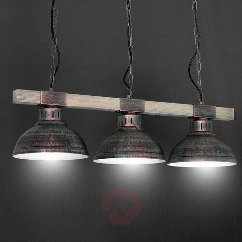 Luminex Lampa wisząca hakon 3xe27/60w/230v patyna