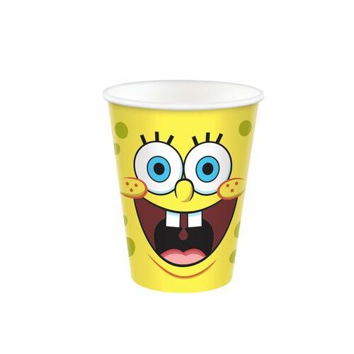 Kubeczki urodzinowe Spongebob Kanciastoporty - 266 ml - 8 szt. (0192937184035)