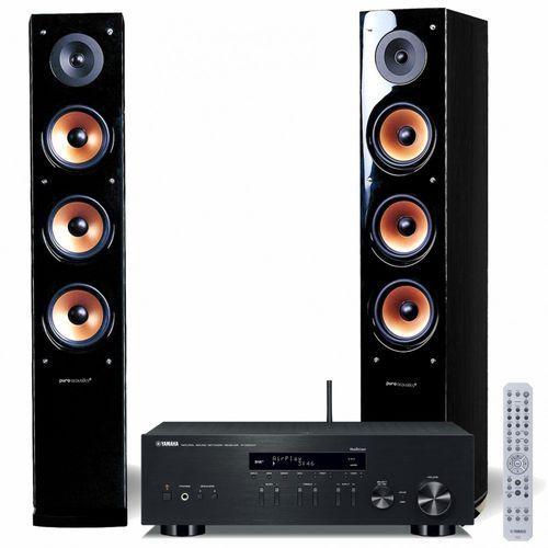 Zestaw stereo r-n303d + pure acustic nova 8 czarny darmowy transport marki Yamaha