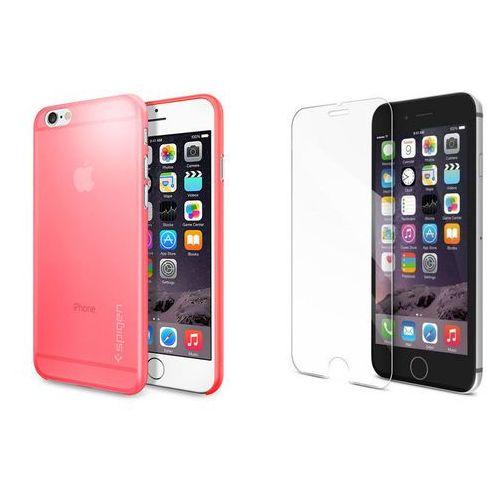 Zestaw   Spigen SGP Airskin Pink   Obudowa + Szkło ochronne Perfect Glass dla modelu Apple iPhone 6 / 6S