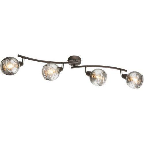 Listwa Globo Roman 54348-4 plafon lampa sufitowa 4x4W E14 LED nikiel mat, 54348-4