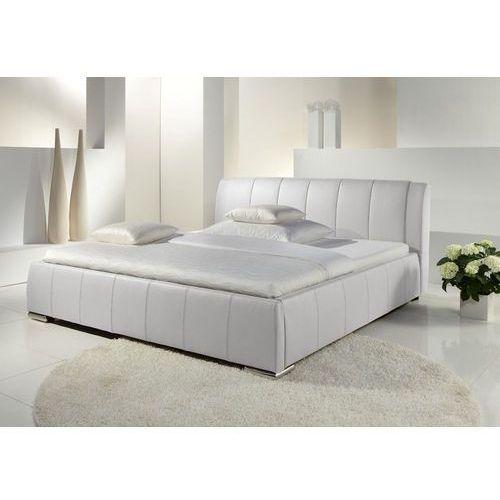 Łóżko tapicerowane 160 cm Eva ze stelażem i pojemnikiem na pościel