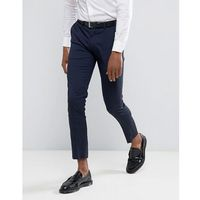 super skinny fit smart trousers in navy - navy, River island