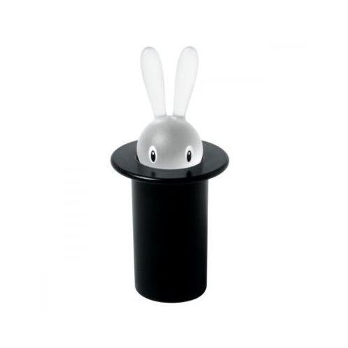 Alessi  magic bunny pudełko na wykałaczki z termoplastiku, czarny królik (8003299958030)