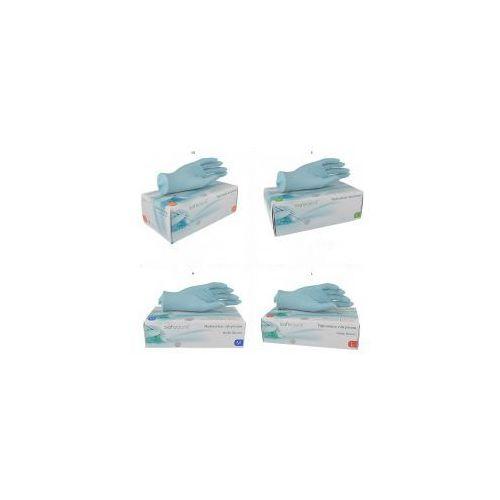 Rękawiczki zabiegowe nitrylowe safedent, bezpudrowe, op. 200 szt. marki Pozostali
