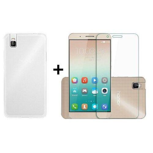 Zestaw   Obudowa Ultra Slim Przezroczysta + Szkło hartowane Perfect Glass   Huawei Shot X / Honor 7i