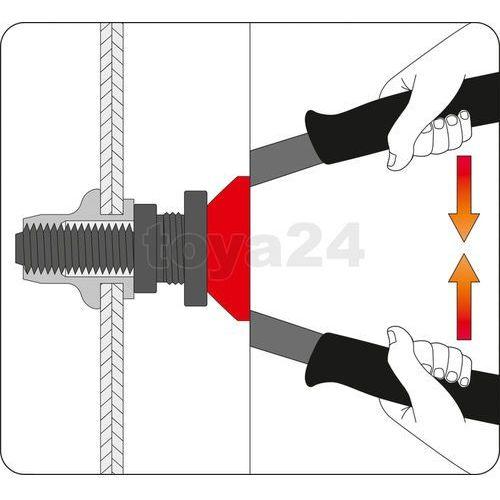 Nitownica ręczna do nitonakrętek m5, m6, m8, m10,m12 330 mm / YT-3612 / YATO - ZYSKAJ RABAT 30 ZŁ, YT-3612