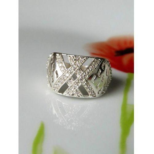 Srebrny pierścionek koszyczek, rozmiar 17