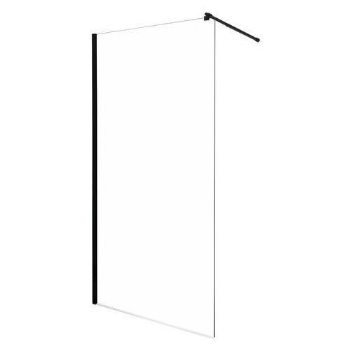 Ścianka prysznicowa czarny profil 100 cm line tr kerra marki Novoterm