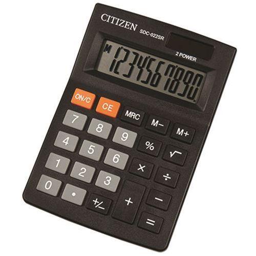 Kalkulator biurowy CITIZEN SDC-022SR 10-cyfrowy, 120x87mm, czarny (4562195139454)