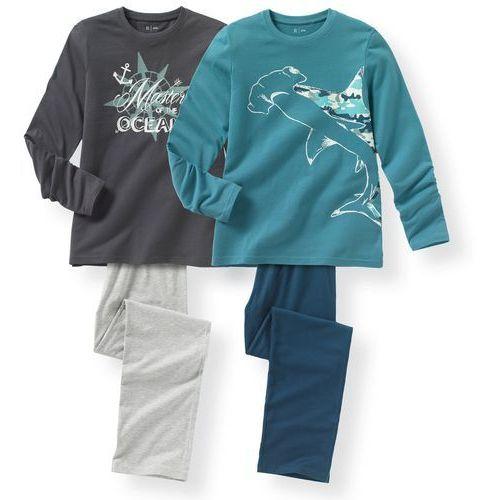 R édition Bawełniana piżama z bawełny z nadrukiem oceanu 10-16 lat (komplet 2 szt.)