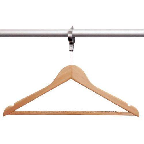 Wieszak na ubrania drewniany z zabezpieczeniem | 10 szt.