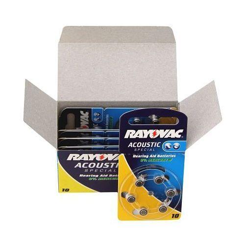 60 x baterie do aparatów słuchowych Rayovac Acoustic Special 10