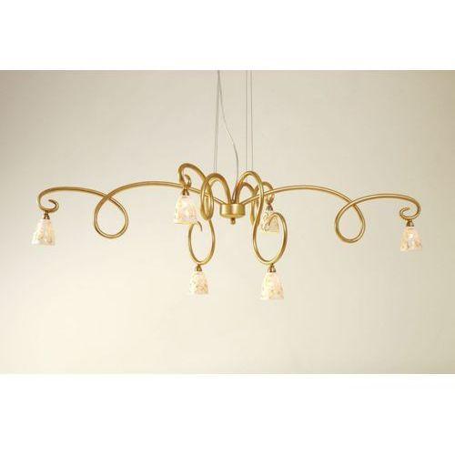 Holländer alice fiorire lampa wisząca złoty, 6-punktowe - design/klasyczny - obszar wewnętrzny - fiorire - czas dostawy: od 8-12 dni roboczych (4250151326023)