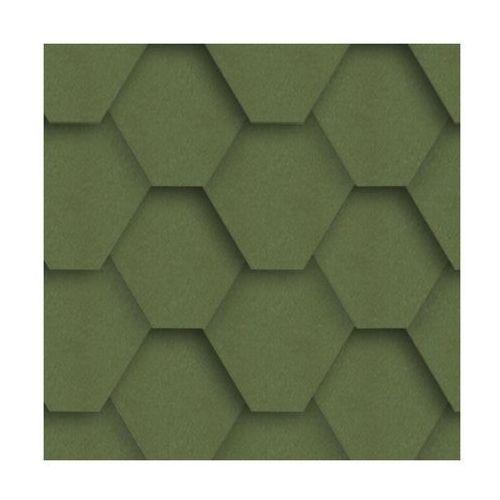 Gont bitumiczny HEXAGONALNY Zielony 3 m2 IZOLMAT (5903874203582)
